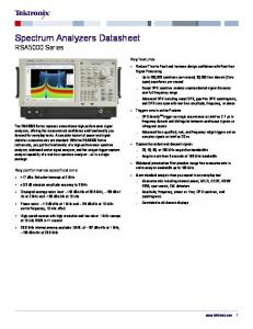 Spectrum Analyzers Datasheet RSA5000 Series