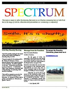 SPECTRUM. Message from the President