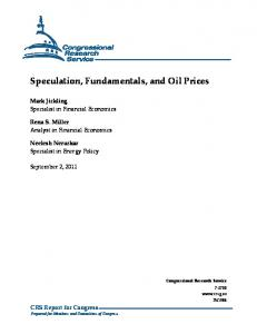 Speculation, Fundamentals, and Oil Prices