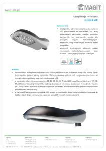 Specyfikacja techniczna Cleveo 2 LED