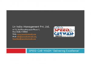 SPEED CAR WASH Delivering Excellence