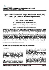 Speed Control of Permanent Magnet Brushless DC Motor Using Fuzzy Logic Controller-Hardware Implementation
