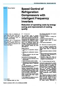 Speed Control of Refrigeration Compressors with intelligent Frequency Inverters