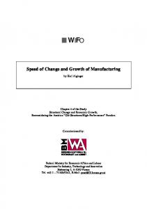 Speed of Change and Growth of Manufacturing