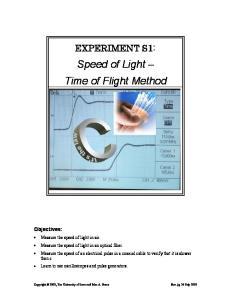 Speed of Light Time of Flight Method
