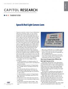 Speed & Red Light Camera Laws
