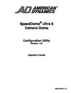 SpeedDome Ultra 8 Camera Dome