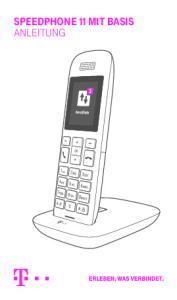 SPEEDPHONE 11 MIT BASIS ANLEITUNG