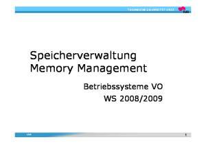 Speicherverwaltung Memory Management