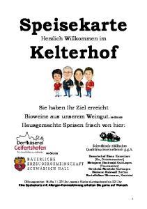 Speisekarte. Kelterhof
