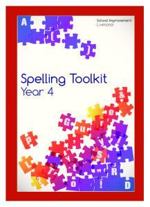 Spelling Toolkit Year 4