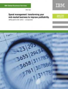 Spend management: transforming your mid-market business to improve profitability