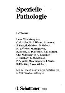 Spezielle Pathologie