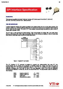 SPI Interface Specification