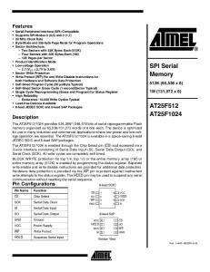 SPI Serial Memory AT25F512 AT25F1024