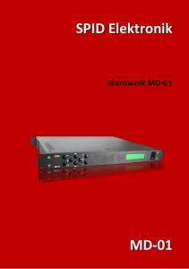 SPID Elektronik. Sterownik MD-01 MD-01