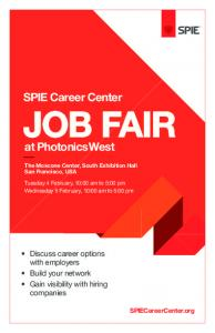 SPIE Career Center JOB FAIR
