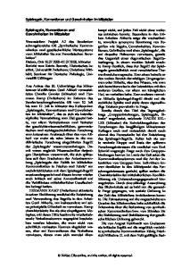 Spielregeln, Konventionen und Gewohnheiten im Mittelalter. Spielregeln, Konventionen und Gewohnheiten im Mittelalter