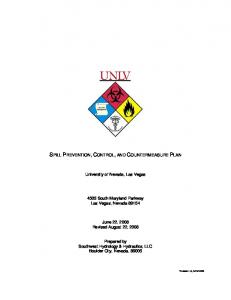 SPILL PREVENTION, CONTROL, AND COUNTERMEASURE PLAN