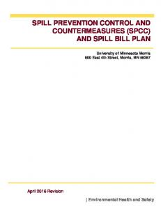 SPILL PREVENTION CONTROL AND COUNTERMEASURES (SPCC) AND SPILL BILL PLAN