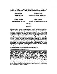 Spillover Effects of Early-Life Medical Interventions *