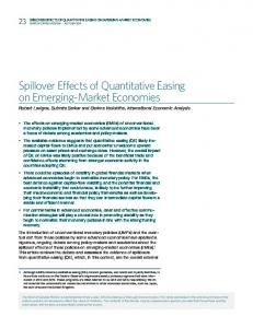 Spillover Effects of Quantitative Easing on Emerging-Market Economies