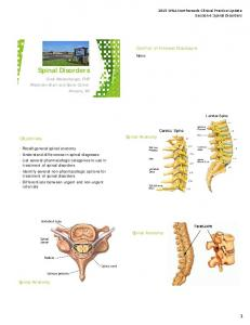 Spinal Disorders. Conflict of Interest Disclosure. Spinal Anatomy. Objectives. Spinal Anatomy. Spinal Anatomy