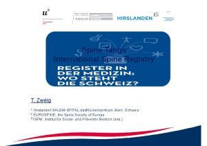 Spine Tango International Spine Registry