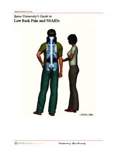 Spine University s Guide to Low Back Pain and NSAIDs