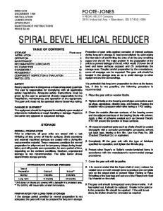 SPIRAL BEVEL HELICAL REDUCER