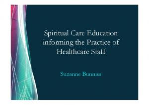 Spiritual Care Education informing the Practice of Healthcare Staff