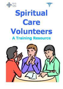 Spiritual Care Volunteers. A Training Resource