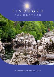 SPIRITUAL COMMUNITY, LEARNING CENTRE, ECOVILLAGE