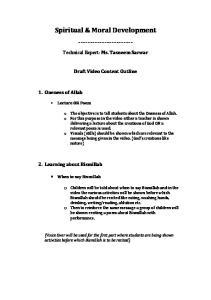 Spiritual & Moral Development