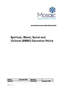 Spiritual, Moral, Social and Cultural (SMSC) Education Policy