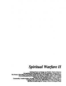 Spiritual Warfare and the Frontiers