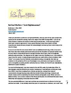 Spiritual Warfare + Torah Righteousness?