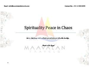 Spirituality Peace in Chaos