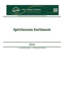 Spirituosen Sortiment