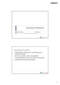 Spirometry Workshop. Department of Respiratory & Sleep Medicine