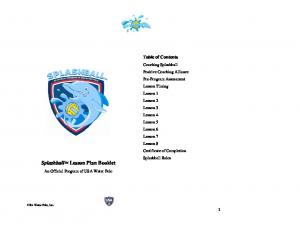 Splashball Lesson Plan Booklet