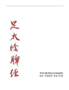 Spleen Channel 1 THE SPLEEN CHANNEL OF FOOT TAIYIN