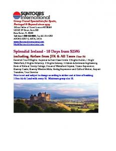 Splendid Ireland - 10 Days from $2595