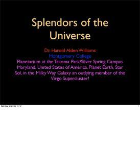 Splendors of the Universe