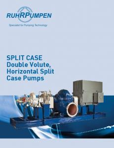 SPLIT CASE Double Volute, Horizontal Split Case Pumps