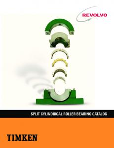 SPLIT CYLINDRICAL ROLLER BEARING CATALOG