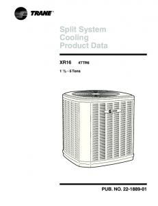 Split System Cooling Product Data