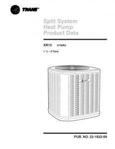 Split System Heat Pump Product Data