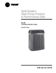 Split System Heat Pump Product & Performance Data