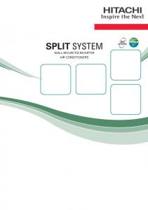 SPLIT SYSTEM WALL MOUNTED INVERTER AIR CONDITIONERS